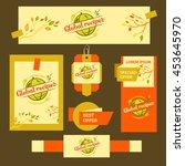 vector logo for restaurant cafe.... | Shutterstock .eps vector #453645970