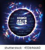 vector sale sign on blue... | Shutterstock .eps vector #453646660