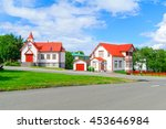 Small photo of View of the Catholic St. Peter Church, in Akureyri, Iceland