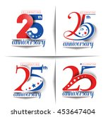 set of 25th years anniversary... | Shutterstock .eps vector #453647404