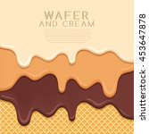 flavored cream melted on wafer  ... | Shutterstock .eps vector #453647878