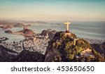 aerial panorama of botafogo bay ... | Shutterstock . vector #453650650