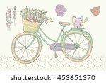 bicycle color vintage pastel... | Shutterstock . vector #453651370