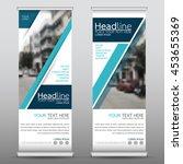 blue technology roll up... | Shutterstock .eps vector #453655369