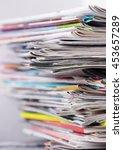 newspapers | Shutterstock . vector #453657289