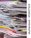newspapers | Shutterstock . vector #453657313