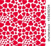 Red Hearts   Vector Pattern
