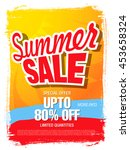summer sale template banner | Shutterstock .eps vector #453658324