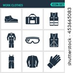 set of modern vector icons.... | Shutterstock .eps vector #453665083