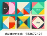 Set of backgrounds with trendy design. Applicable for Covers, Voucher, Posters, Flyers and Banner Designs. | Shutterstock vector #453672424