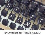 start now message written on... | Shutterstock . vector #453673330