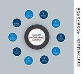 infographic template. data... | Shutterstock .eps vector #453673456