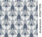 vector geometric seamless... | Shutterstock .eps vector #453677590