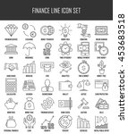 modern thin line icons set of... | Shutterstock .eps vector #453683518