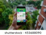 zagreb  croatia   july 17  2016 ...   Shutterstock . vector #453688090