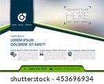 vector brochure  flyer ... | Shutterstock .eps vector #453696934