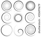 Set Of 9 Different Spiral...