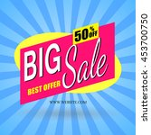 abstract poster banner big sale ... | Shutterstock .eps vector #453700750