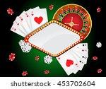 vector illustration on a casino ... | Shutterstock .eps vector #453702604