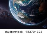 the earth from space showing...   Shutterstock . vector #453704323