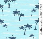 summer seamless pattern with ... | Shutterstock .eps vector #453710773