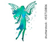 hand paint fairy with magic... | Shutterstock .eps vector #453710806