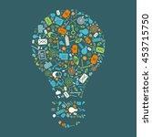 e mail marketing  glyph design... | Shutterstock .eps vector #453715750