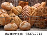 Various Types Of Bread In A...
