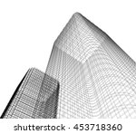 architecture abstract  3d... | Shutterstock . vector #453718360