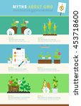 infographic  myths about gmo.... | Shutterstock .eps vector #453718600