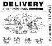 modern delivery industry pack.... | Shutterstock .eps vector #453719899