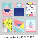 abstract memphis style cards.... | Shutterstock .eps vector #453721126