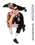 smiling harlequin wearing a... | Shutterstock . vector #453722224