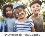 children friendship...   Shutterstock . vector #453728053