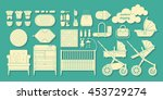 icons newborns products. cribs  ... | Shutterstock .eps vector #453729274