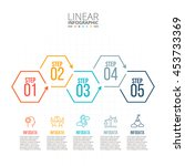 thin line flat elements for... | Shutterstock .eps vector #453733369