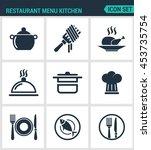set of modern vector icons.... | Shutterstock .eps vector #453735754