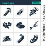 set of modern vector icons.... | Shutterstock .eps vector #453736333