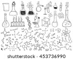 hand drawn chemistry | Shutterstock .eps vector #453736990