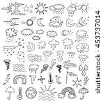 weather symbols   Shutterstock .eps vector #453737014