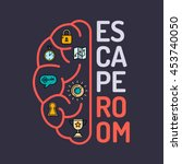 real life room escape and quest ... | Shutterstock .eps vector #453740050