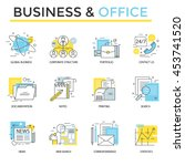 office and business icons  thin ... | Shutterstock .eps vector #453741520