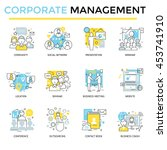 corporate business concept... | Shutterstock .eps vector #453741910