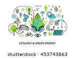 modern flat thin line design... | Shutterstock .eps vector #453743863