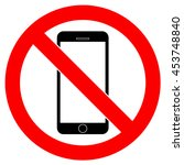 no phone sign  vector design | Shutterstock .eps vector #453748840
