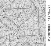 monochrome seamless tropical... | Shutterstock .eps vector #453751714