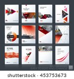 brochure template layout  cover ... | Shutterstock .eps vector #453753673