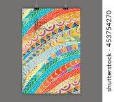 stylish presentation of wall... | Shutterstock .eps vector #453754270