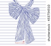 fashion stripy bow design  t... | Shutterstock .eps vector #453754510