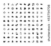set of 100 universal icons.... | Shutterstock .eps vector #453754708